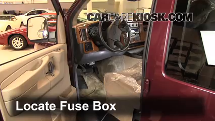 interior fuse box location 1996 2014 chevrolet express. Black Bedroom Furniture Sets. Home Design Ideas