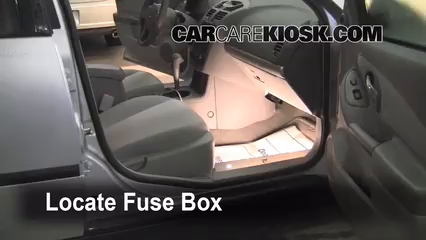 interior fuse box location chevrolet bu  locate interior fuse box and remove cover