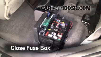Interior Fuse Box Location 2002 2009 Chevrolet