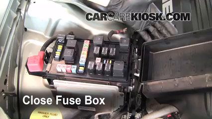 replace a fuse 2005 2010 chrysler 300 2005 chrysler 300 c 5 7l v8 6 replace cover secure the cover and test component