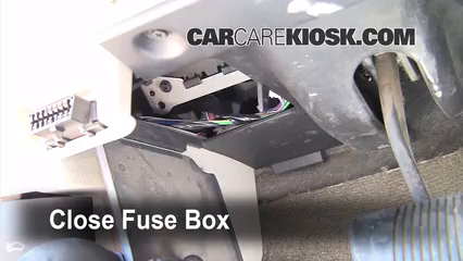 interior fuse box location 2005 2010 jeep grand cherokee 2005 5 test component secure the cover and test component
