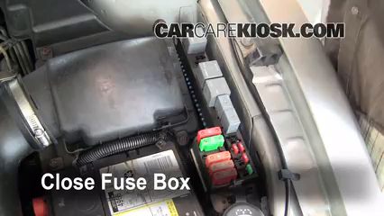 replace a fuse 1995 2005 pontiac sunfire 1999 pontiac sunfire 6 replace cover secure the cover and test component