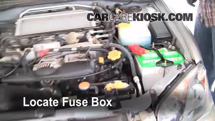 replace a fuse 2004 2007 subaru impreza 2005 subaru impreza wrx locate engine fuse box and remove cover