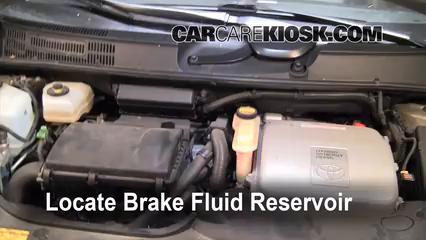 Add Brake Fluid: 2004-2009 Toyota Prius - 2005 Toyota Prius 1.5L 4 ...
