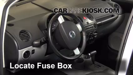 interior fuse box location 1998 2005 volkswagen beetle. Black Bedroom Furniture Sets. Home Design Ideas