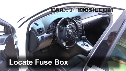 interior fuse box location 2002 2008 audi a4 2005 audi a4 3 0l v6