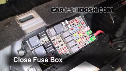 interior fuse box location buick lucerne buick interior fuse box location 2006 2011 buick lucerne 2006 buick lucerne cxs 4 6l v8