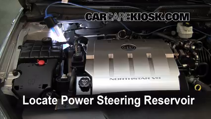 fix power steering leaks buick lucerne 2006 2011 2006 buick locate the power steering fluid reservoir