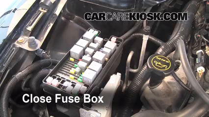 blown fuse check ford mustang ford mustang gt  6 replace cover secure the cover and test component