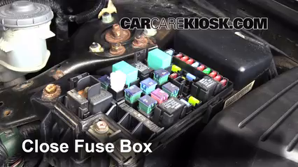 blown fuse check honda accord honda accord ex  6 replace cover secure the cover and test component