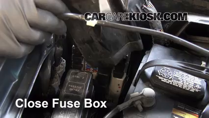 replace a fuse 2003 2007 infiniti g35 2006 infiniti g35 x 3 5l v6 6 replace cover secure the cover and test component
