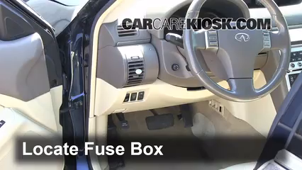 Interior Fuse Box Location 2003 2007 Infiniti G35 2003 Infiniti G35 3 5l V6 Coupe 2 Door