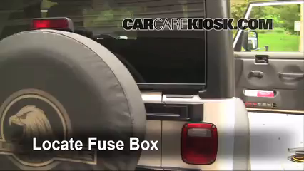interior fuse box location jeep wrangler jeep locate interior fuse box and remove cover