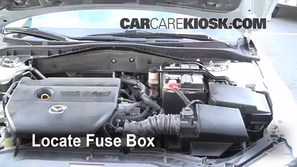 replace a fuse 2003 2008 mazda 6 2006 mazda 6 i 2 3l 4 cyl How To Replace A Fuse Box In A Car locate engine fuse box and remove cover how to replace a fuse box in a 1965 mustang