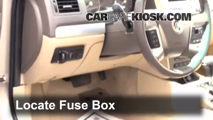 Interior Fuse Box Location 2006 2011 Mercury Milan 2007
