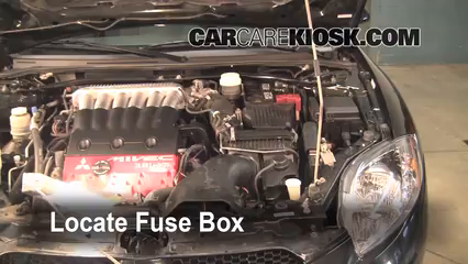 replace a fuse 2006 2012 mitsubishi eclipse 2006 mitsubishi locate engine fuse box and remove cover