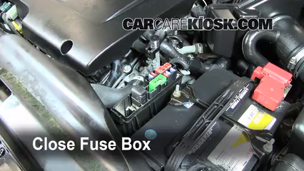 blown fuse check 2002 2006 nissan altima 2006 nissan altima se 6 replace cover secure the cover and test component