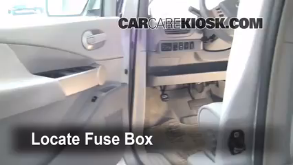 interior fuse box location 2004 2009 nissan quest 2006 nissan quest s 3 5l v6