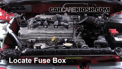 replace a fuse nissan sentra nissan sentra gxe locate engine fuse box and remove cover