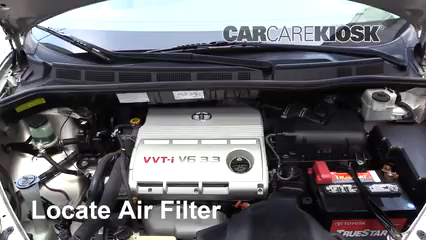 Air Filter HowTo 20042010 Toyota Sienna  2006 Toyota Sienna LE