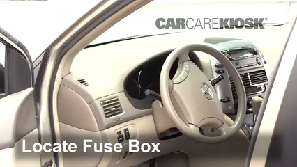 interior fuse box location toyota sienna toyota locate interior fuse box and remove cover
