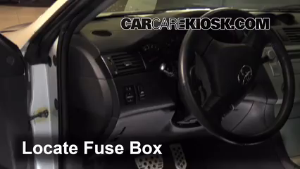interior fuse box location 2004 2008 toyota solara 2006. Black Bedroom Furniture Sets. Home Design Ideas