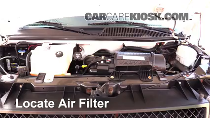Air filter how to 1996 2014 chevrolet express 2500 2007 for Chevy express cabin air filter location