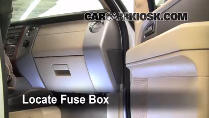 interior fuse box location   ford expedition