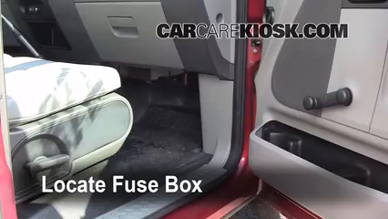 interior fuse box location 2004 2008 ford f 150 2007. Black Bedroom Furniture Sets. Home Design Ideas