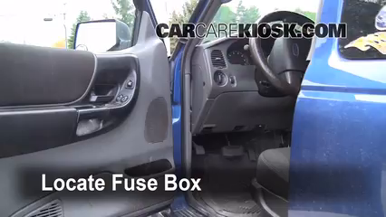 interior fuse box location 2006 2011 ford ranger 2007. Black Bedroom Furniture Sets. Home Design Ideas