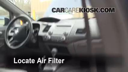 Cabin Filter Replacement: Honda Civic 2006-2011 - 2009 ...
