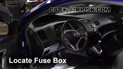 Fuse Interior Part on 2013 honda civic cabin air filter location