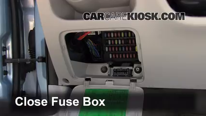 Interior Fuse Box Location 2006 2011 Hyundai Accent