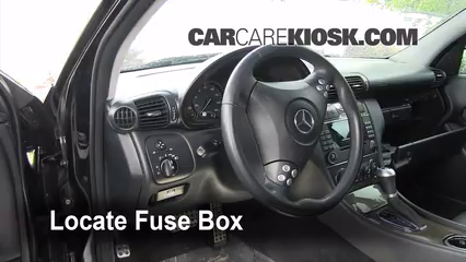 interior fuse box location 2001 2007 mercedes benz c230. Black Bedroom Furniture Sets. Home Design Ideas