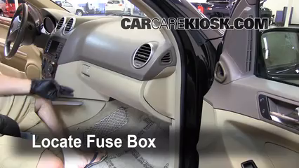 interior fuse box location   mercedes benz ml