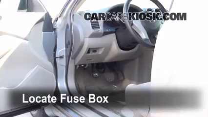 interior fuse box location nissan altima nissan locate interior fuse box and remove cover