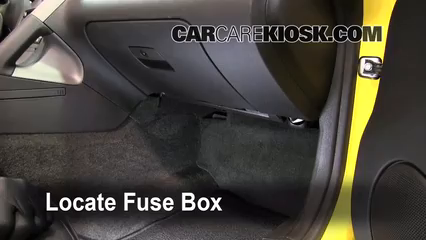 Interior Fuse Box Location 2006 2009 Pontiac Solstice