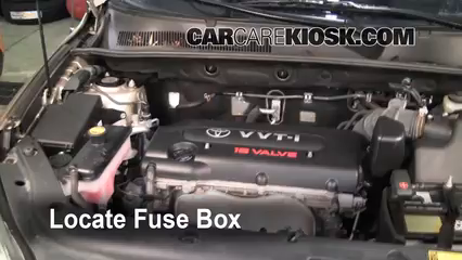 blown fuse check 2006 2012 toyota rav4 2007 toyota rav4 2 4l 4 cyl locate engine fuse box and remove cover