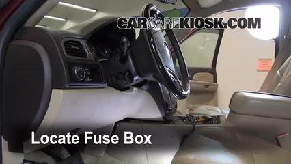 interior fuse box location 2007 2013 gmc yukon xl 1500 2007 gmc 2009 Gmc Sierra Fuse Box locate interior fuse box and remove cover 2009 gmc sierra fuse box