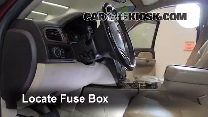 interior fuse box location 2007 2013 gmc yukon 2008 gmc yukon locate interior fuse box and remove cover