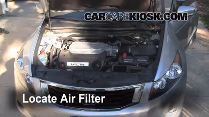 2008-2012 Honda Accord Engine Air Filter Check - 2008 ...