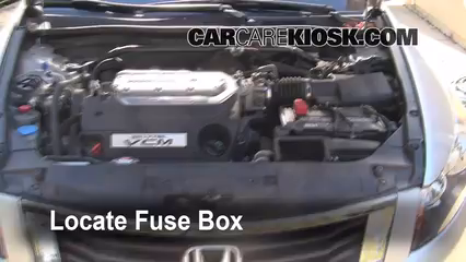 replace a fuse 2008 2012 honda accord 2008 honda accord ex l locate engine fuse box and remove cover