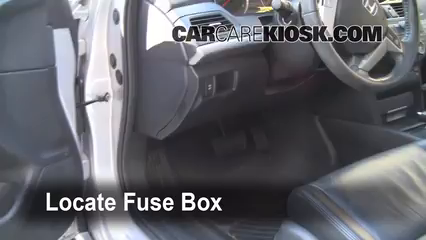 Interior Fuse Box Location 2008 2012 Honda Accord 2008 Honda Accord Ex L 3 5l V6 Sedan 4 Door