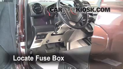 interior fuse box location 2003 2011 honda element 2008. Black Bedroom Furniture Sets. Home Design Ideas
