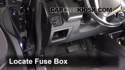 Interior Fuse Box Location 2007 2008 Honda Fit 2007