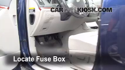 Interior Fuse Box Location 2007 2012 Hyundai Veracruz