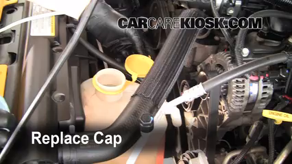 fix coolant leaks 2007 2016 jeep wrangler 2008 jeep wrangler 8 replace cap secure the coolant reservoir cap