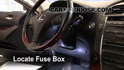 Interior Fuse Box Location 20072012 Lexus ES350 2008 Lexus – Lexus Es300 Fuse Box Location
