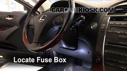 2007 2012 lexus es350 interior fuse check 2008 lexus. Black Bedroom Furniture Sets. Home Design Ideas
