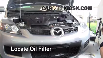 oil & filter change mazda cx-7 (2007-2012) - 2008 mazda cx-7 sport